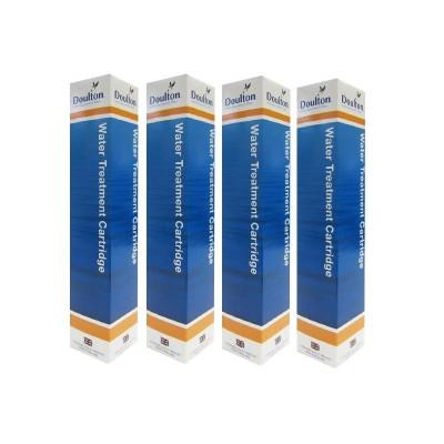 Set de 4 cartouches anti calcaire Cleansoft pour filtre Doulton Duo et Trio